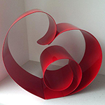 Red powder coated heart from Etta Sperber